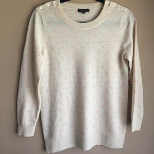 JCrew Polka Dot Sweater Size Small